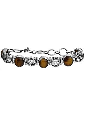 Tiger Eye Bracelet with Lattice