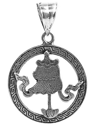 Sterling Umbrella Pendant (Ashtamangala)