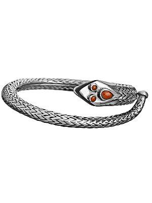 Sterling Serpent Bracelet