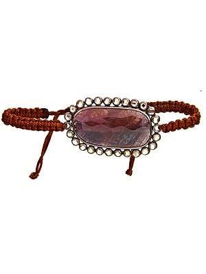 Faceted Sapphire Cord Bracelet