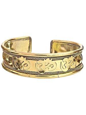 OM (AUM) Gold Plated Bracelet