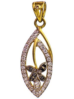 Handcrafted Marquis-Shape Designer Pendant with CZ