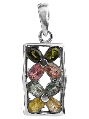 Faceted Tourmaline Pendant (In Mixed Color)