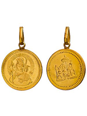Lord Shiva Pendant with His Durbar (Two Sided Pendant)