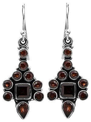 Faceted Garnet Earrings