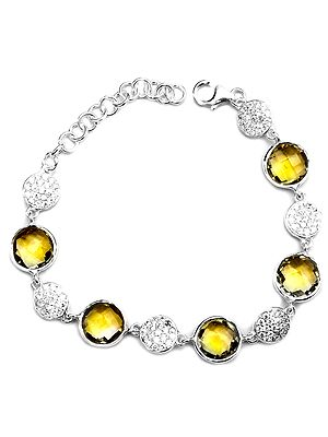 Sterling Bracelets with Faceted Gems
