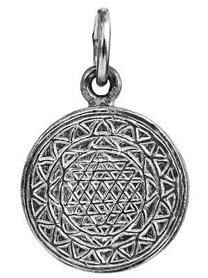 Shri Yantra Pendant with Om on the Reverse