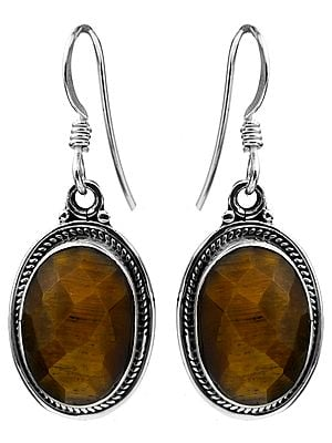 Faceted Tiger Eye Earrings