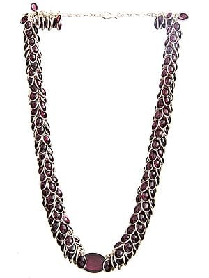 Superfine Bunch Necklace of Garnet