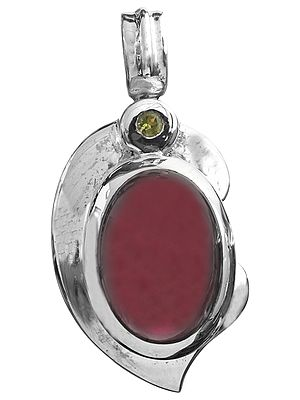 Garnet Pendant with Peridot