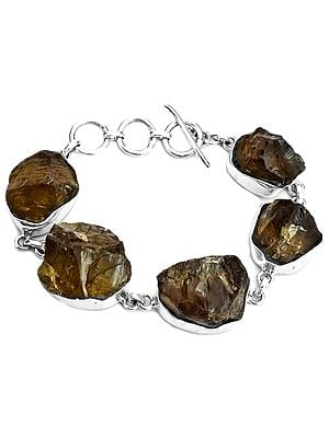 Rugged Smoky Quartz Bracelet