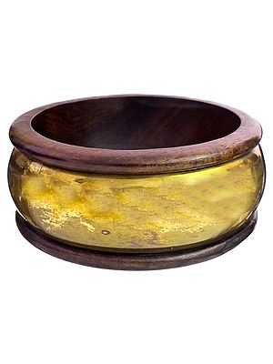 Brass with Wood Bangle