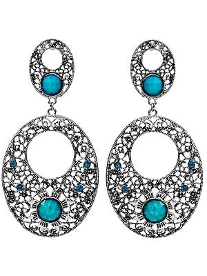 Designer Earrings with Multi-Color Faux Stones