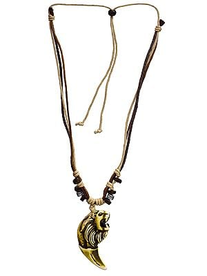 Lion Cord Necklace