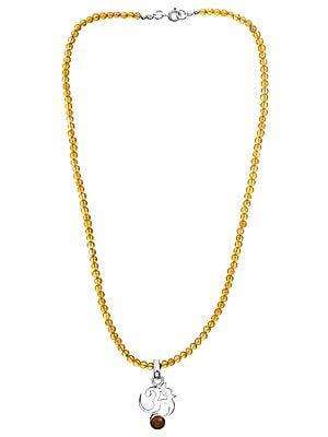 Carnelian Om (AUM) Necklace