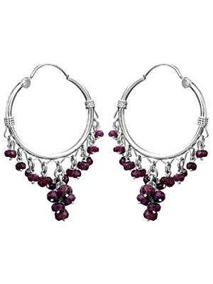 Sterling Hoop Chandeliers with Gems