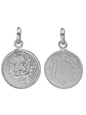 Pancha-Mukha Hanuman Pendant with His Yantra on the Reverse (Two Sided Pendant)