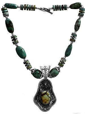 Turquoise Antiquated Necklace