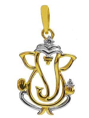Turbaned Ganesha Silhouette Pendant