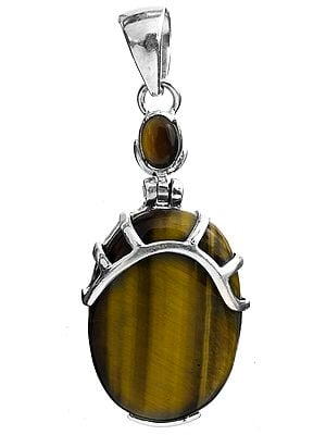 Twin Tiger Eye Pendant