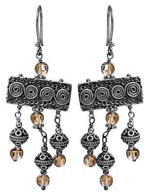 Citrine Spiral Earrings