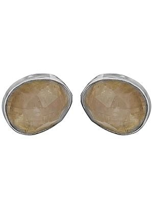 Faceted Rainbow Moonstone Oval Tops