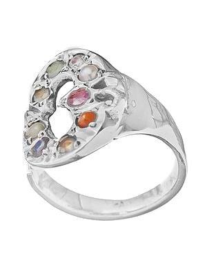 Navaratna OM (AUM) Ring