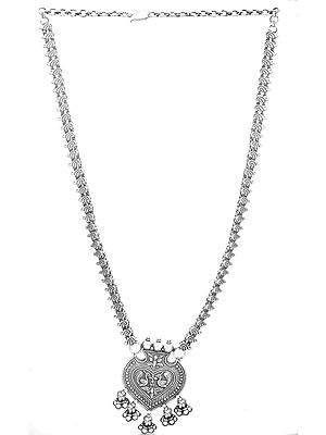 Sterling Peacock Necklace with Charms