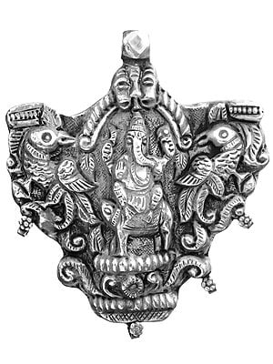 Sterling Lord Ganesha Large Pendant