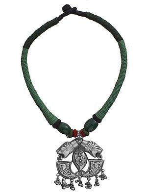 Cord Necklace with Lolling Lions