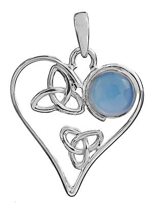 Heart-Shape Pendant with Gems