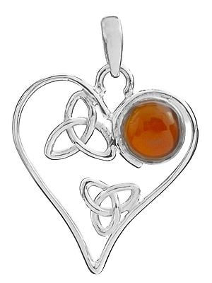 Heart-Shape Pendant with Gems