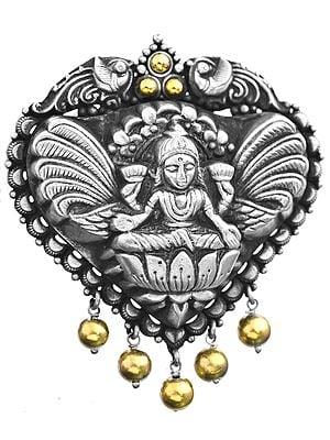 Goddess Lakshmi Pendant (South Indian Temple Jewelry)
