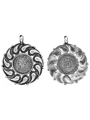 Queen Victoria Double-Sided Coin Pendant