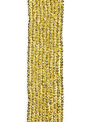 Gold Plated Pyrite Israel Cut Rondells
