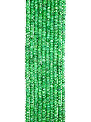 Faceted Green Corundum Rondells
