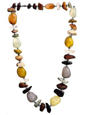 Multi-Color Faux Nugget Necklace