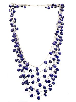 Faceted Lapis Lazuli Seven-Strand Necklace