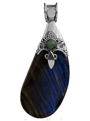 Labradorite Pendant with Turquoise
