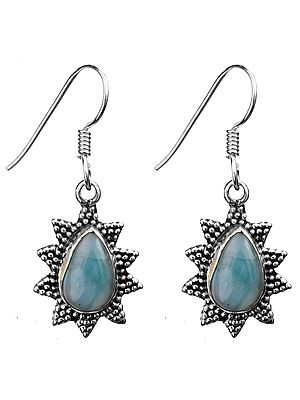 Larimar Star Earrings