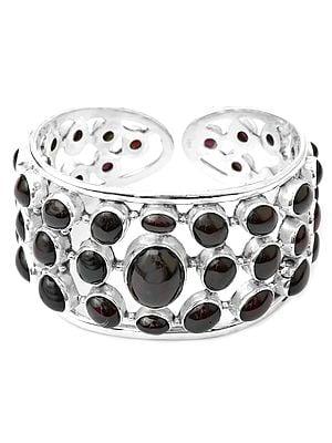 Garnet Cuff Bracelet