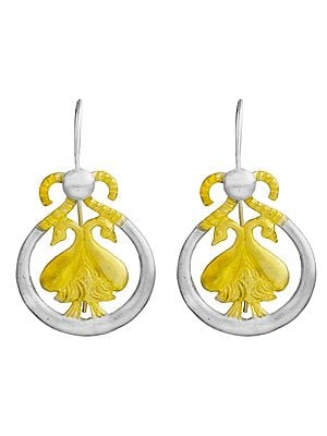 Earrings with Pairs of Swans