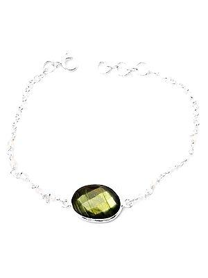 Rainbow Moonstone Beaded Bracelet with Gems