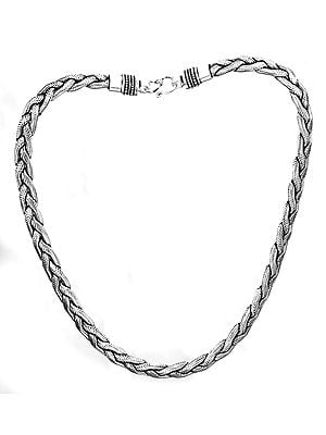Knotted Rope Snake Chain Necklace