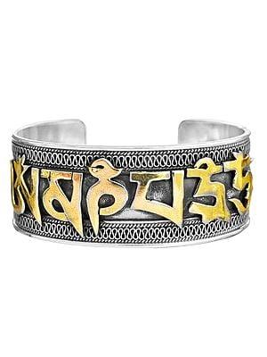 Om Mani Padme Hum Cuff Bracelet
