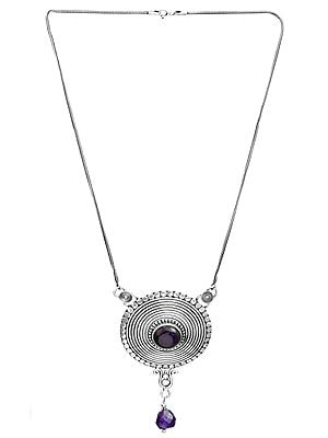 Amethyst Spiral Necklace
