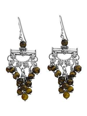 Gemstone Chandelier Earrings