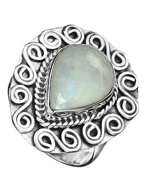 Gemstone Spiral Ring