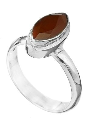 Faceted Gemstone Marquis Ring