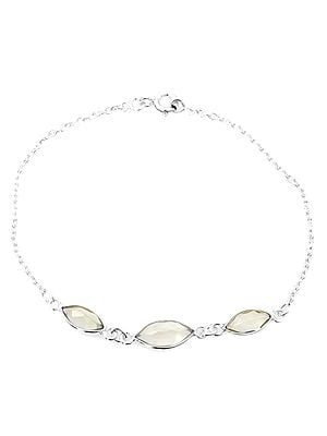 Faceted Green Amethyst Marquis Bracelet